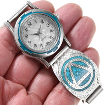 Turquoise AA Symbol Sobriety Watch 24500