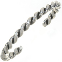 Navajo Sterling Twist Wire Cuff Bracelet 27555