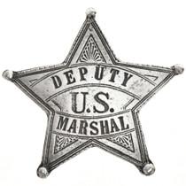 Deputy US Marshal Silver Star Badge 29005