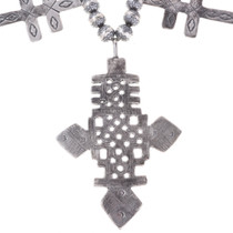 Sterling Native American Cross Necklace 29779