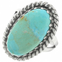 Kingman Turquoise Navajo Ladies Ring 29837