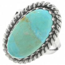 Kingman Turquoise Navajo Ladies Ring 29837