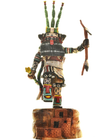 Hopi Prickly Pear Cactus Kachina Doll 29830