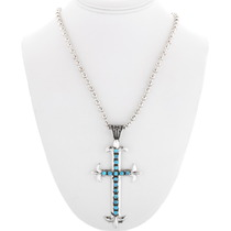 Navajo Cross Pendant with Bead Necklace 29754