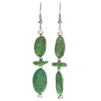 Navajo Natural Turquoise Bead Earrings 29824