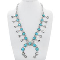 Bisbee II Turquoise Squash Blossom Necklace Set  29822
