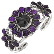 Amethyst Onyx Old Pawn Style Ladies Cuff 29811