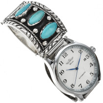 Vintage Sleeping Beauty Turquoise Mens Watch 29648