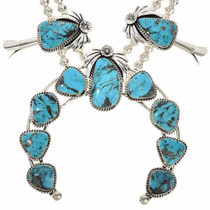 Navajo Turquoise Silver Naja  29844