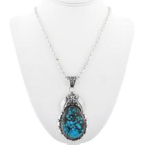 Native American Bisbee Turquoise Pendant 29850