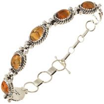 Navajo Citrine Tennis Link Bracelet 29864