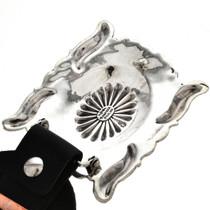Silver Belt Buckle with Repoussé  29866