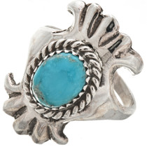 Ladies Turquoise Silver Navajo Ring 29874