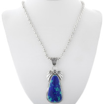 Navajo Blue Green Sterling Pendant 29880