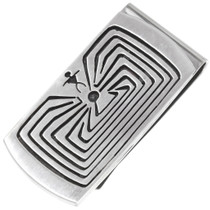 Man In The Maze Silver Money Clip 29889
