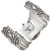 Navajo Handmade Sterling Watch Cuff 29890
