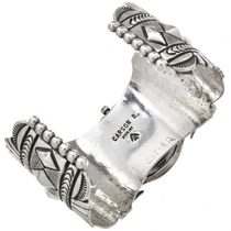 Navajo Handmade Sterling Watch Cuff 29890