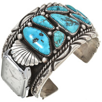 Old Pawn Turquoise Watch Cuff 29926