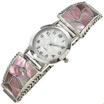 Pink Shell Zuni Ladies Silver Watch 29928