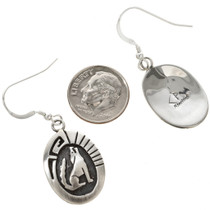 Navajo Howling Wolf Coyote Earrings 29937