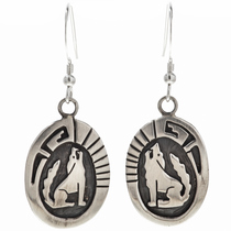 Sterling Wolf French Hook Earrings 29937
