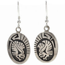 Eagle Kachina French Hook Earrings 29943
