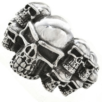 Sterling Navajo Bikers Ring 29944