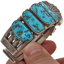 Vintage Turquoise Watch Cuff 29954