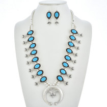 Turquoise Squash Blossom Necklace Set 29960