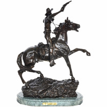 Soldier on Horse Bronze Sculpture 29966