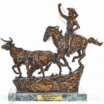 """""""The Round Up"""" Bronze Sculpture 29967"""