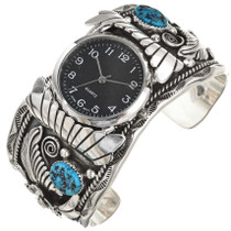 Natural Kingman Turquoise Watch Cuff 29980