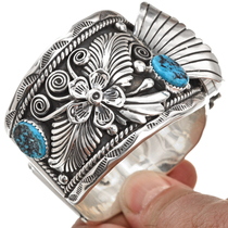 Kingman Turquoise Sterling Watch Cuff 29980