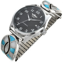 Turquoise Silver Mens Watch 29981