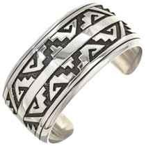 Overlaid Silver Cuff Bracelet 29987