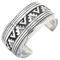 Overlaid Silver Cuff Bracelet 29988