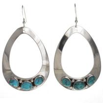 Blue Turquoise Teardrop Earrings 29990