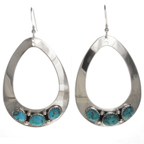 Blue Turquoise Teardrop Earrings 29990