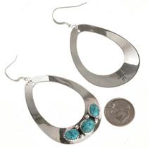 Turquoise Large Earrings Navajo Handmade 29990
