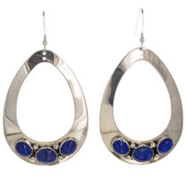 Lapis Silver Navajo Earrings 29991