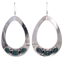 Malachite Silver Earrings 29992