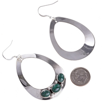 Silver Teardrop Navajo Earrings 29992