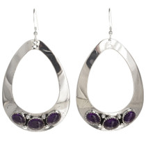 Amethyst Earrings Navajo Silver 29994