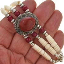 Carnelian Red Silver Bracelet 30000