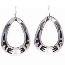 Handmade Navajo Silver Earrings 30007