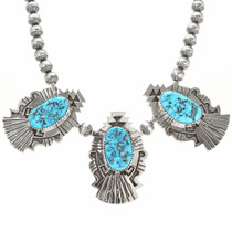 Silver Overlay Navajo Necklace Calvin Peterson 30012