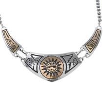 Gold Silver Navajo Necklace 30019