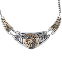Gold Silver Navajo Necklace 30019