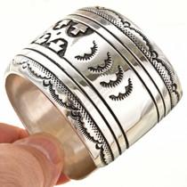 Overlay Silver Pattern Navajo Cuff Bracelet 30032