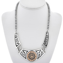 Gold Silver Navajo Kachina Necklace 30038